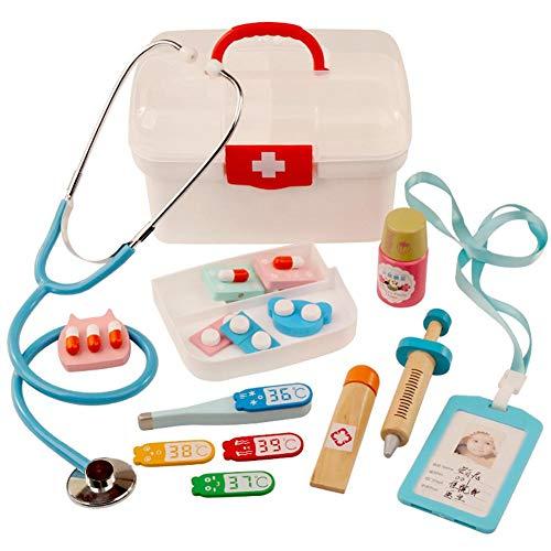 Juego de Juguetes médicos de Doctor Pretend Toy para niños, Juego de rol de Juego de Vestir 13 Piezas,…