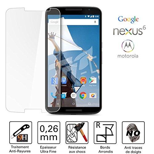 Concept ®/TM-Cristal protector de pantalla para Motorola Nexus 6 Vidrio templado Ultra...