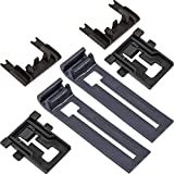 Ultra Durable W10195839 Dishwasher Rack Adjuster W10195840 Dishwasher Positioner W10250160 Adjuster Arm Clip-lock Kit Replacement by Blue Stars - Exact Fit for Whirlpool Kenmore Dishwashers