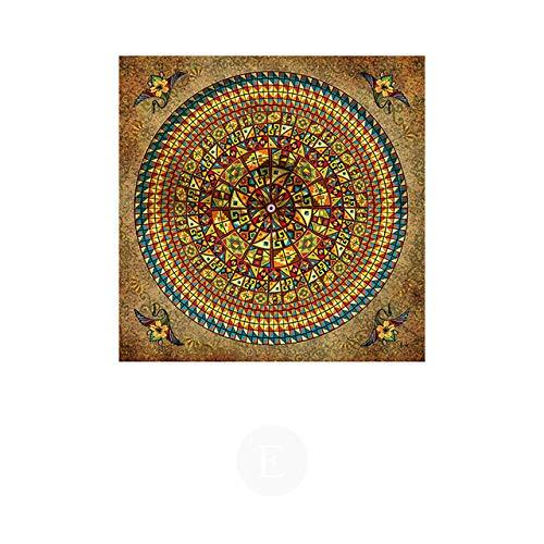Tibetan Thangka Buddha Abstrakte Leinwand Malerei Poster und Druckgrafik Wohnzimmer Einzigartige dekorative Wand 30x30cm