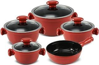 Conjunto de Panelas de Cerâmica Chef, 5 Peças, Pomodoro, Ceraflame