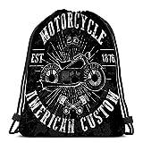 XCNGG Bolso de lazo clásico Bolso de almacenamiento deportivo Etiqueta de motocicleta Interruptor de corte personalizado