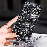 Case for Galaxy Note 10 Plus,Galaxy Note 10 Plus Diamond Case,3D Handmade Bling Rhinestone Diamonds Sparkle Rhinestones Girls Women Full Crystals Bling Diamond Case Cover for Galaxy Note 10 Plus,Black
