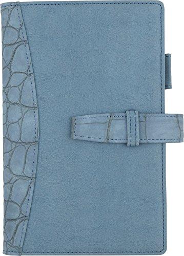 フランクリンプランナー システム手帳 フレンチクロコ バインダー ポケットサイズ 15mm ライトブルー 63077