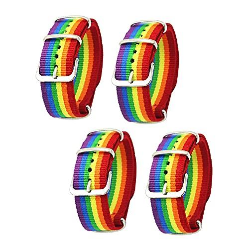Pulseras del Orgullo, 4 Piezas Pulseras Gay, Pulseras del Orgullo Gay, Pulsera Arcoiris Lesbiana, Brazalete Lesbiana, para Hombres, Mujeres, Parejas, Desfiles del Festival del Arco Iris