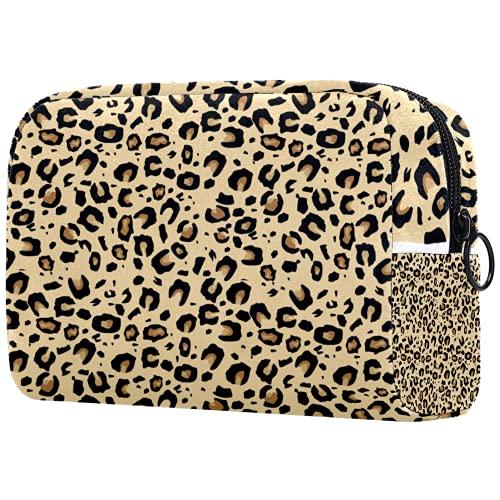 Kosmetiktasche Womens Makeup Bag Für Reisen zum Tragen von Kosmetika wechseln Sie die Schlüssel usw.,Jaguar Haut Tierhaut