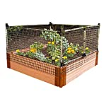 Frame-It-All Stack & Extend Animal Barrier 4 Connects to anchor or stacking joints in Frame It All raised garden beds (for other applications, stake directly into the ground) Durable plastic and stainless-steel construction Keeps out small to large sized animals