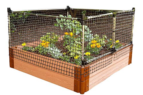 Frame-It-All Stack & Extend Animal Barrier 1 Connects to anchor or stacking joints in Frame It All raised garden beds (for other applications, stake directly into the ground) Durable plastic and stainless-steel construction Keeps out small to large sized animals