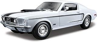 1968Ford Mustang GT Cobra Jet لسيارة بسقف منحن ٍ 1/18أبيض