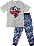 Herren-Schlafanzug-Set, offizielles Design, Größe S-XL Gr. XL, Superman (Grau)