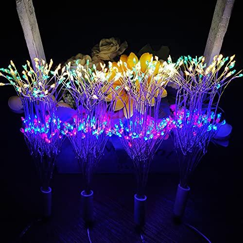 BBE led 花火ライト イルミネーションライト 電飾 USB リモコン付き 防水 スター爆発 調光可 8モード調整可能 誕生日 パーティー 祝日 結婚式 クリスマス ストリングライト 雰囲気ライト (カラフル)