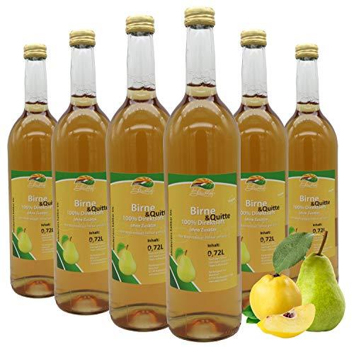 Bleichhof Birnen-Quitten Saft - 100% Direktsaft, naturrein und vegan, OHNE Zuckerzusatz, 6er Pack (6x 0,72l)