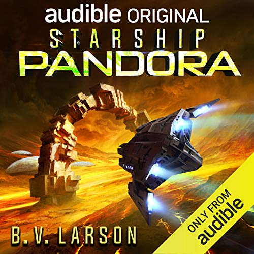 Starship Pandora     A Star Force Drama              By:                                                                                                                                 B. V. Larson                               Narrated by:                                                                                                                                 Scott Aiello,                                                                                        Jamie Jackson,                                                                                        Tim Gerard Reynolds,                   and others                 Length: 4 hrs and 23 mins     11 ratings     Overall 3.5