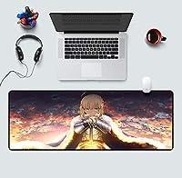 二次元コンピューターゲームアニメーションマウスパッド超創造的王様肥厚テーブルマット-あ_300x800mm