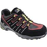 Delta plus calzado - Zapato serraje aterciopelado mesh 3d poliuretano/caucho negro/rojo 44