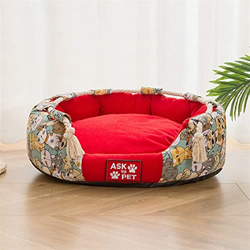 YYQQ Cama para Mascotas para Perros de Espesado para Perros Casa de Gato Cama para Perros Cama para Perros Grandes Mascotas Productos para Perros Puppy Cojín de cojín Cojinete Banco Sofá