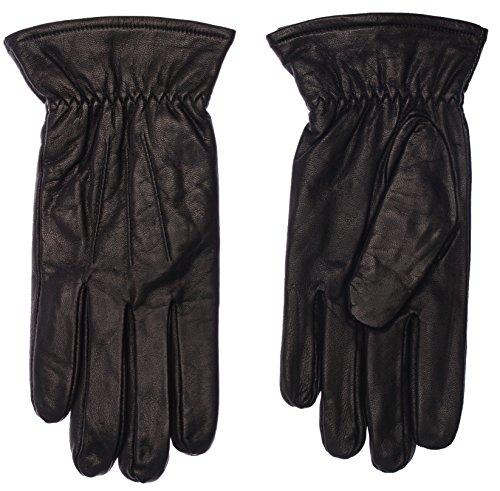 Didso Herren Leder Handschuhe aus 100{6bd3c2dd891e5a3ba788e459c52d1927ce080f78c88fa1d4dbbf5622595612d2} Ziegenleder mit drei Abnähern, warm, klassisch, günstig, reduziert, Schwarz M