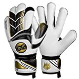 FitsT4 Soccer Goalie Gloves for Youth and Adult, with Strong Grip and Finger
