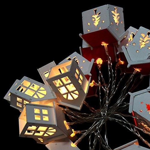 Guirnalda led de Navidad con 20 Luces Flash cálidas de Casitas de...