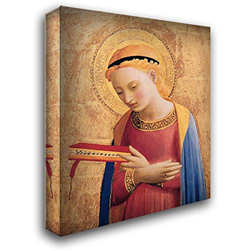 Virgin Mary Annunciate 20x22 Gallery Wrapped Stretched Canvas Art by Fra Angelico