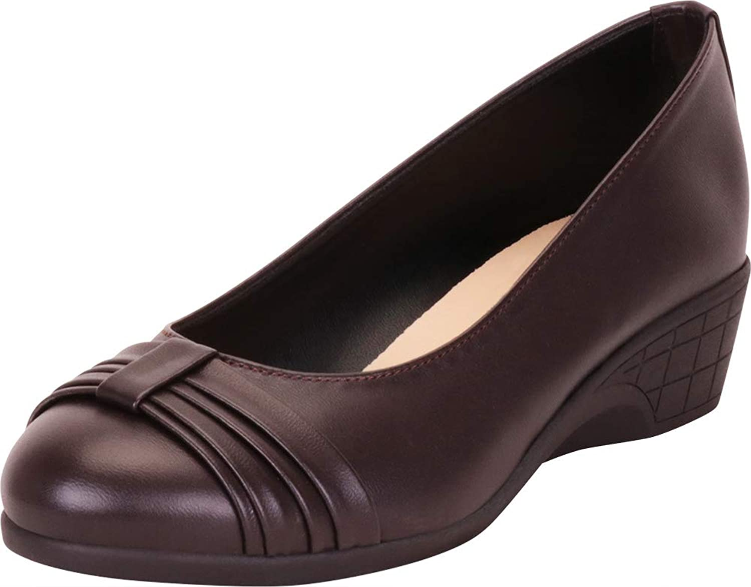 Cambridge Select Women's Round Toe Bow Knot Low Comfort Wedge