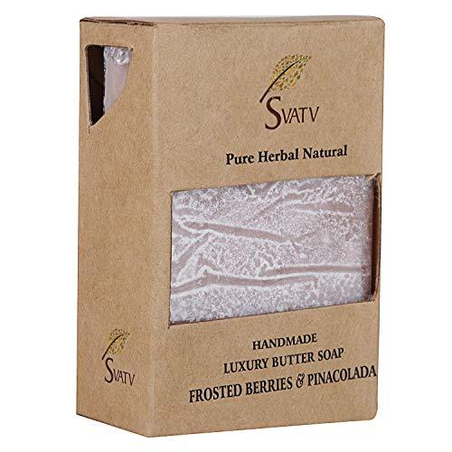 SVATV handgemachte Luxus Butter Soap Frosted Beeren & Pinacolada für alle Hauttypen 100g Bar