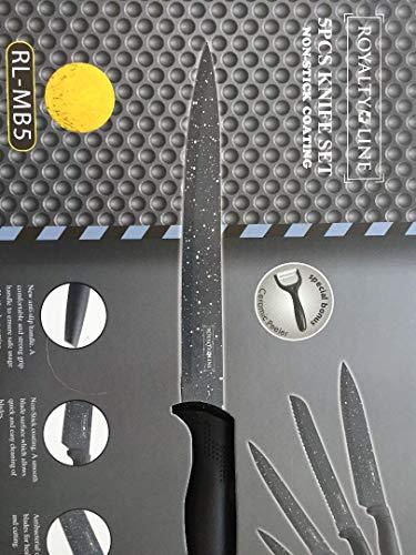 Royalty Line Set de couteaux 5 pièces avecÉplucheur en Céramique