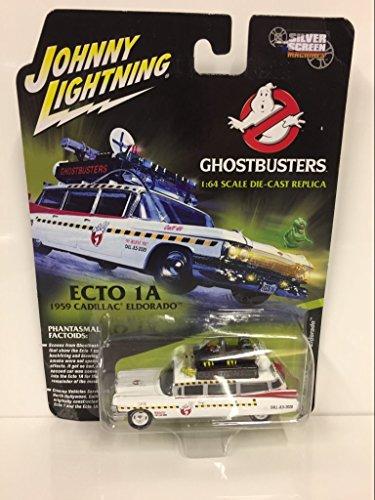 Johnny Lightning - Ghostbusters' Ecto 1A, a 1959 Cadillac Eldorado como un Coche de diecasto, Escala 1/64
