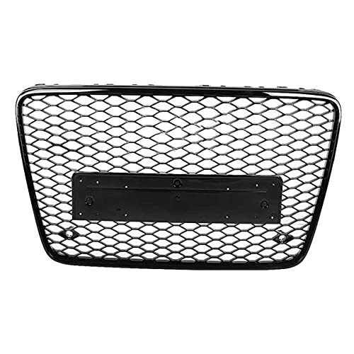 XPPDM RSQ7 Style Front Sports Hex Mesh Honeycomb Hood Barbecue Black, para Q7 4L 2007 2008 2009 2010 2011-2015 Auto Grille