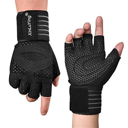 Fitself Fitness Handschuhe Traininghandschuhe Herren Gewichtheben Handschuhe Handgelenkstütze für Krafttraining Gym Workout Crossfit Radsport