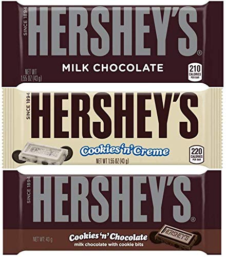 Hershey's Chocolate Bar Mix - Galletas y Crema, Galletas de Chocolate y Dulces Americanos de Chocolate