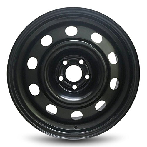 Road Ready Car Wheel For 2013-2018 Ford Escape 2018 Ford Focus 17 Inch 5 Lug Black Steel Rim Fits R17 Tire - Exact OEM Replacement - Full-Size Spare