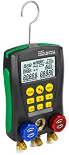 Romacci DY517 Medidor de pressão Refrigeração Vácuo digital Medidor de pressão do manifold Medidor de temperatura HVAC Med...