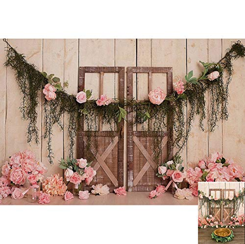 DaShan 7x5ft Polyester Newborn YouTube Cake Smash 1st Birthday Backdrop Rustic Flowers Baby Shower Floral Tea Party Floral Bridal Shower Photography Background Wedding Ceremony Engagement Photo Props