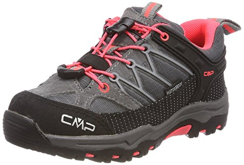 CMP Unisex-Kinder Rigel Trekking-& Wanderhalbschuhe, Grau (Grey-Red Fluo), 35 EU
