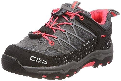 CMP Rigel, Zapatos de Low Rise Senderismo Unisex Niños, Gris (Grey-Red Fluo), 32 EU