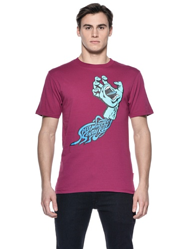 Santa Cruz T-shirt Logo Homme - Violet - Wine - FR: Small (Taille fabricant: Small)