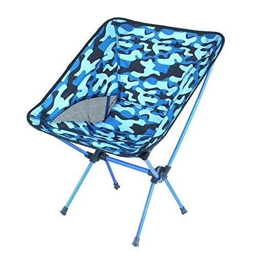 CAIJINJIN Silla de Campamento plegable de Silla de la pesca plazas plegable Silla plegable camping al aire libre portable de la pesca silla de playa Volver Boceto Barbacoa heces (Tamaño: 53 * 35 * 67c