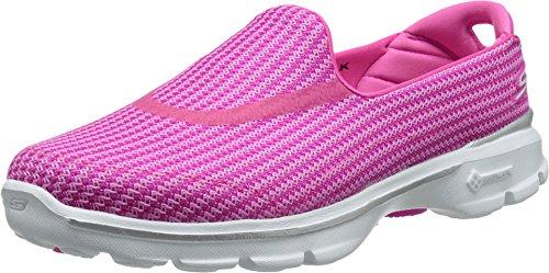Skechers Go Walk 3, Zapatillas Mujer, Rosa (HPK), 39 EU