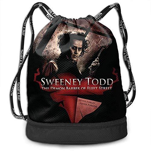 Valender Kordelzug Sporttasche Sweeney Todd Movie Unisex wasserdichte Mode Kordelzug Rucksack