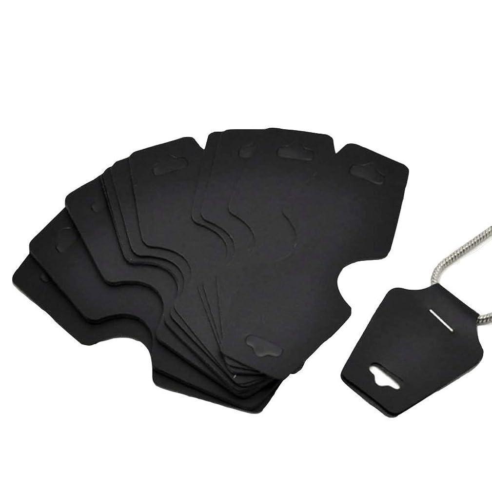 AKOAK 100 Pcs Size:10.5cm x 4.5cm Blank Plastic Black Necklace Display Cards Bracelet Display Cards Jewelry Display Hanging Cards