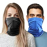 6. 2pc Cooling Neck Gaiter Face Mask-Face Covering Neck Gaiters for Men Women, Cooling Face Gaiter, Breathable Cool Wraps Face Scarf Mask for Summer Heat. Neck Gator.
