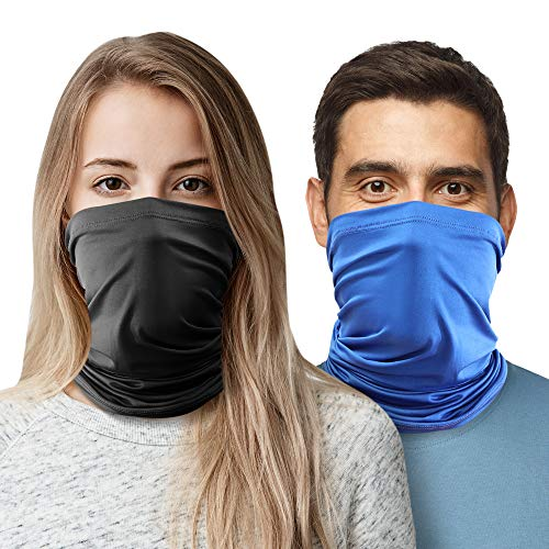 2pc Cooling Neck Gaiter Face Mask-Face Covering Neck Gaiters for Men Women, Cooling Face Gaiter, Gator Mask for Men, Neck Gator, Face Gator, Gator Face Mask.