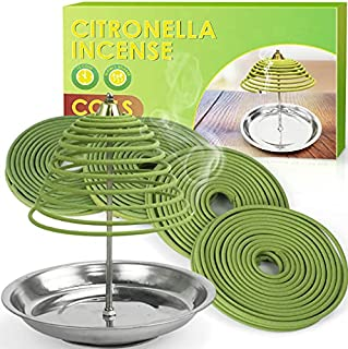 LABELLEFÉE Citronella Coils, Citronella Incense, Made with Citronella, Lemongrass Oil for Camping Trips, Backyards Indoor ...