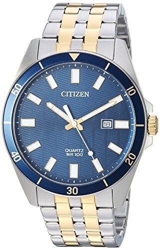Citizen – Reloj informal de cuarzo para hombre, acero inoxidable, tonos plateados (modelo: BI5054-53L)