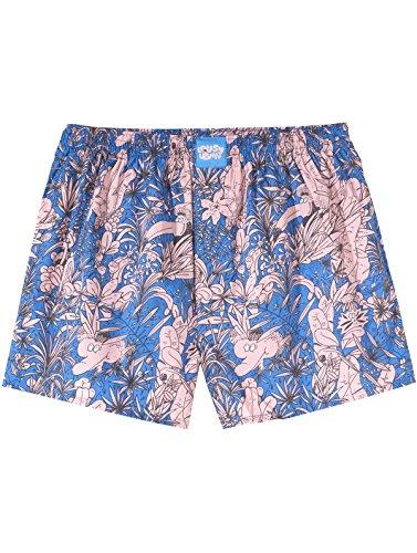 Lousy Livin Herren Wäsche/Bademode/Boxershorts Tropical blau L