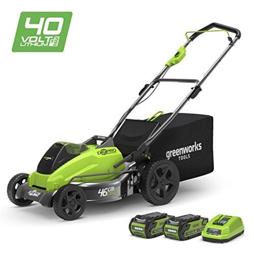Greenworks Tondeuse à gazon Brushless sans fil sur batterie 45cm 40V...