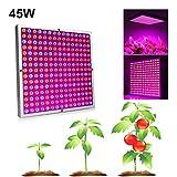 YOBENS NBM 2Pcs / Set 45W LED Grow Light Lámpara de fito Completo Panel de Espectro Completo led con Reflector Copa Plantas Lámpara de Crecimiento para Carpa de Invernadero de Interior
