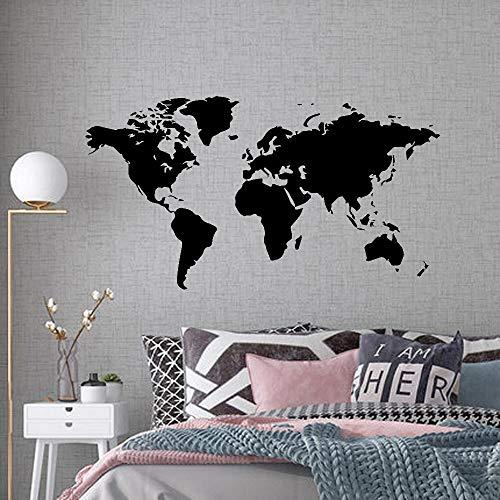 AQjept Grandes Pegatinas de Pared calcomanías Mapa del Mundo hogar Sala de Estar decoración Pegatinas Dormitorio decoración Pegatinas de Pared murales45x83cm