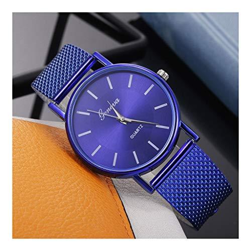 VIMI Relojes Relojes Simple señoras de los Relojes de Cuarzo Relojes de Manera de los Relojes de señoras Relojes de Pulsera (Color : Blue)
